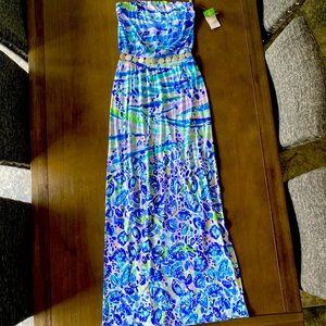 Gorgeous Lilly Pulitzer Mika strapless maxi dress